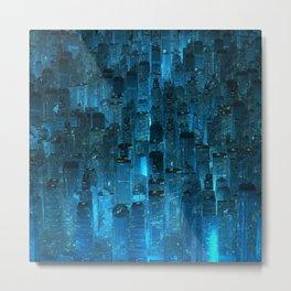 Blue City Metal Print