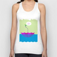 sailing Tank Tops featuring sailing by dabones