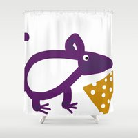 cheese Shower Curtains featuring Cheese? by Stephanie Cole CREATIONS
