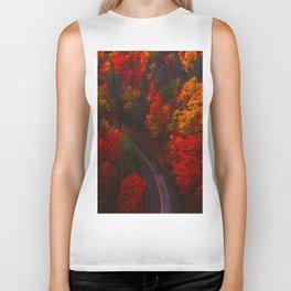 Autumn Forest Aerial (Color) Biker Tank