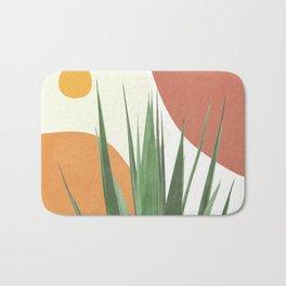 Abstract Agave Plant Bath Mat