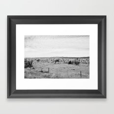Marfa Desert in Black and White Framed Art Print