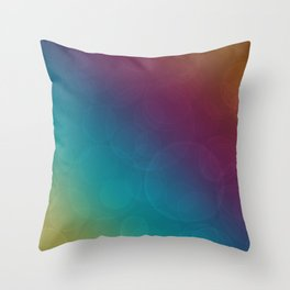 Bokeh Bubbles on Rainbow of Color - Ombre multi Colored Spheres Throw Pillow