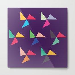 Colorful geometric pattern IV Metal Print