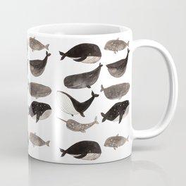 Black and white whales Coffee Mug