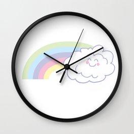 Rainbow Floof Wall Clock