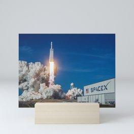Spacex Falcon Heavy Launch Mini Art Print
