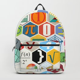 Math in color (white Background) Backpack