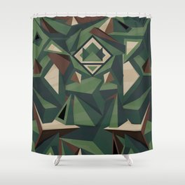 _Camouflage Shower Curtain