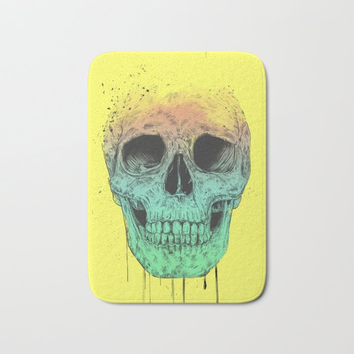 Pop art skull Bath Mat
