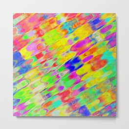 Warm waters abstract pattern Metal Print