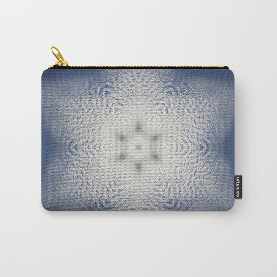 Snowflake of clouds kaleidoscope Carry-All Pouch