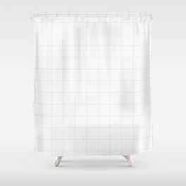 Plain grids Shower Curtain