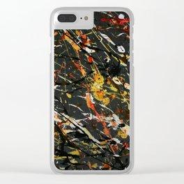 Jackson Pollock Interpretation 2017 Clear iPhone Case