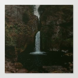 Wahclella Falls x Oregon Waterfall Canvas Print