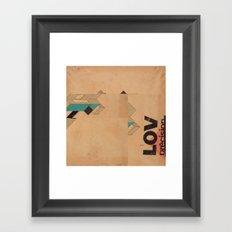 LOV3 Framed Art Print