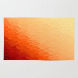 Orange Texture Ombre Rug