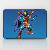 skeletor iPad Cases featuring Laser Light Skeletor by CromMorc