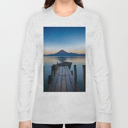 The Dock Sunset (Color) Long Sleeve T-shirt