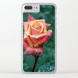 Rainy rose Clear iPhone Case