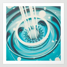 Glass Crash Art Print