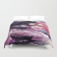 marceline Duvet Covers featuring Adventure  T. - Marceline x Princess Bubblegum by SauceBox16