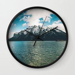 Lake Minnewanka II Wall Clock
