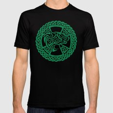 Celtic Nature Polar Bear Black MEDIUM Mens Fitted Tee