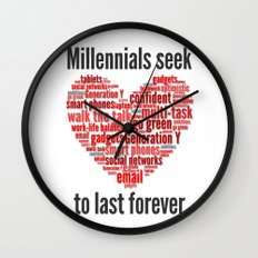 millennials seek love to last forever Wall Clock
