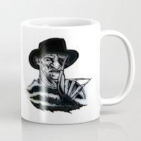 freddy krueger Mugs featuring FREDDY  by shannon's art space