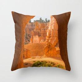 Doorway Bryce Canyon Utah, United States Throw Pillow
