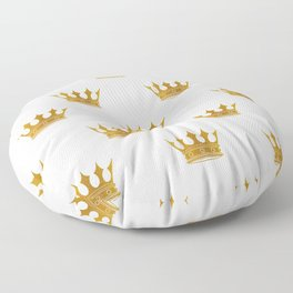 Wedding White Gold Crowns Floor Pillow