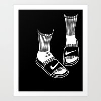 nike Art Prints featuring NIKE by Anna Berger