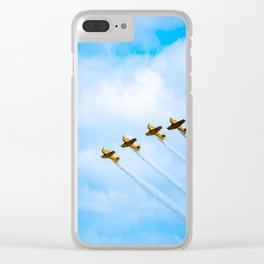 aircraft vintage airplanes aviation Clear iPhone Case