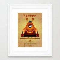 cancer Framed Art Prints featuring CANCER by Angelo Cerantola