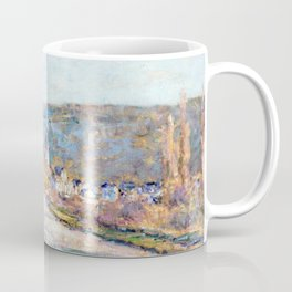1879-Claude Monet-The Road to Vétheuil-23 x 28 Coffee Mug