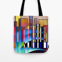seattle Tote Bags featuring Seattle by Kristine Rae Hanning