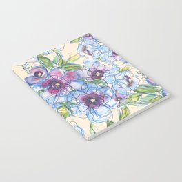 Big Blue Poppies Notebook