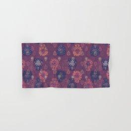 Lotus flower - mulberry woodblock print style pattern Hand & Bath Towel