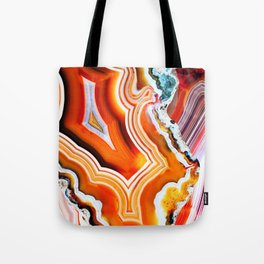 The Vivid Imagination of Nature, Layers of Agate Tote Bag