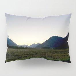 Tranquil mountains dusk Pillow Sham