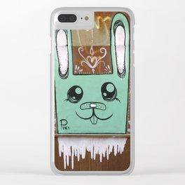 Tel Aviv Street Art / Green Rabbit Clear iPhone Case
