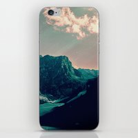 snowboard iPhone & iPod Skins featuring Mountain Call by Schwebewesen • Romina Lutz