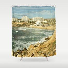 Golden Bay Beach Vista  Shower Curtain