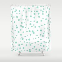 tiffany Shower Curtains featuring Tiffany Eggs by tashna downes