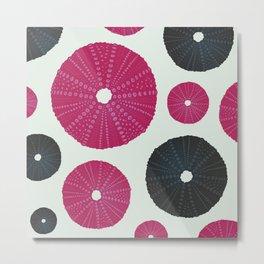 Sea's Design - Urchin Skeleton (Pink & Black) Metal Print