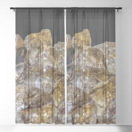 Citrine Crystals Sheer Curtain