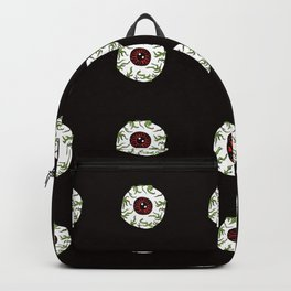 Zombie Eyeball Repeat in Midnight Black Backpack