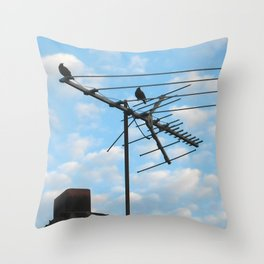 birds eye view! ~ sky and clouds Throw Pillow