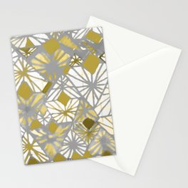 Oro y gris Stationery Cards